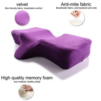 Подушка для наращивания ресниц из пены памяти эргономичная кривая улучшающая спальные подушки идеальная вогнутая подголовник для шеи