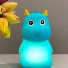 Silicone Dinosaur Shape LED Night Light Rechargeable Touch Sensor Pat Baby Nursery Lamp Bedroom Home Decoration