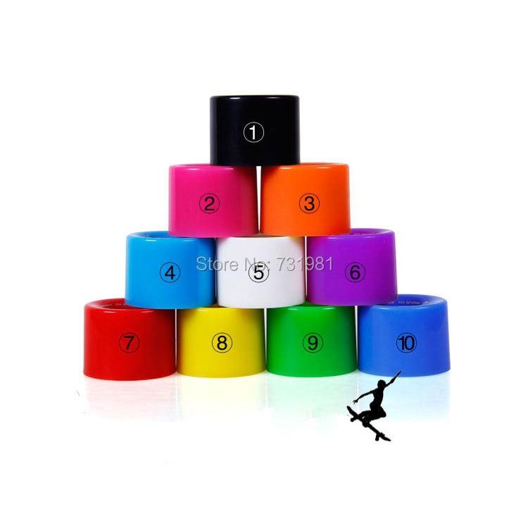 1Set (4 pcs) em branco Pro 60X45mm PU Rodas fit 22 Polegada Placa Plstic Mochila Skate Longboard skate Cruiser