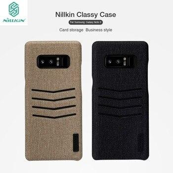 ل sumsang غالاكسي ملاحظة 8 حالة nillkin أنيق بو الجلود بطاقة فتحة بلاستيكية أكياس المحفظة كابا قضية الهاتف الغطاء عن غالاكسي note8