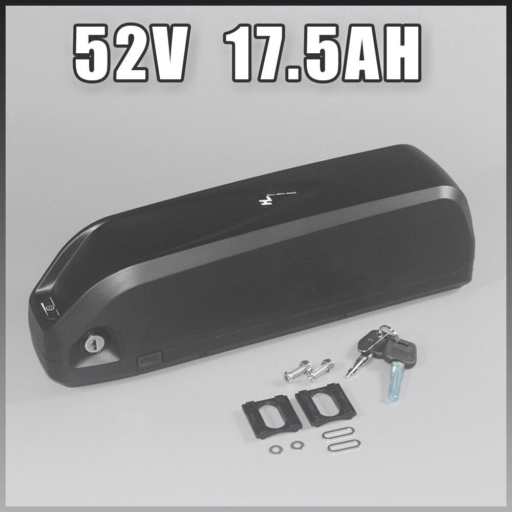 52 V 17.5Ah Li ion batterie 14 S Sanyo cellule 51.8 V 1000 W 1200 W électrique gros vélo Hailong batterie US EU pas de taxe