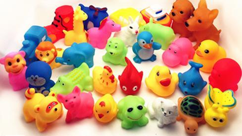 Lovely Mixed Animals Colorful Soft Rubber Float Squeeze Sound Squeaky Bathing Toy