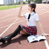 The new spring and summer uniforms Japanese student uniforms suit women's dress skirt sailor suit T5