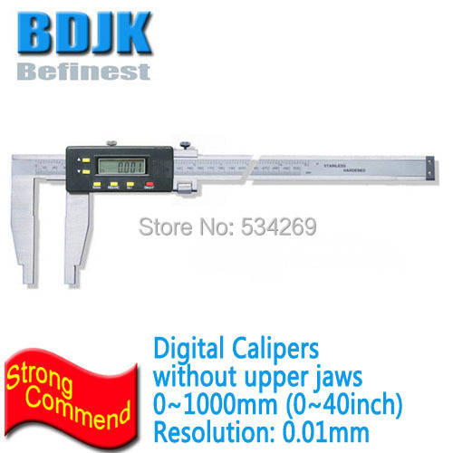 0~1000mm Digital Vernier Calipers without Upper Jaws Vernier Calipers Measuring Tool +/-0.05mm Limit Error0~1000mm Digital Vernier Calipers without Upper Jaws Vernier Calipers Measuring Tool +/-0.05mm Limit Error