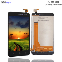 Para BQ BQS 5057 Strike 2 LCD MONTAJE DE digitalizador con pantalla táctil para BQ 5057 piezas de teléfono de pantalla LCD herramientas gratis