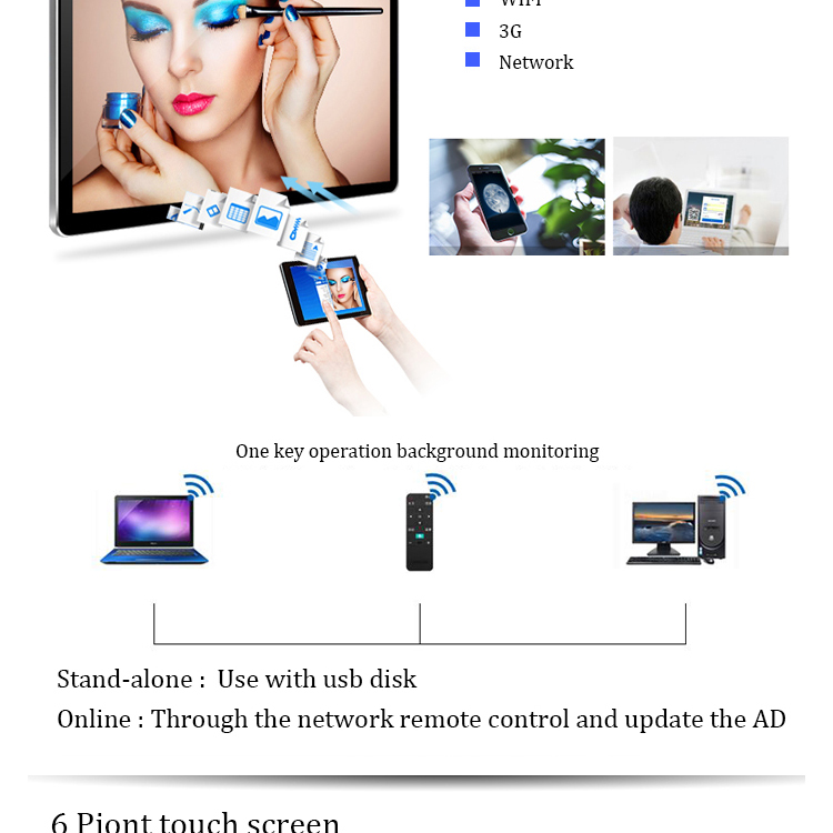 Touch Capacitive Display Screen 15-50inch All In One Computer PC 40mm Ultrathin Desktop Wholesale Pc Desktop Computer