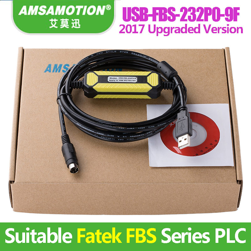 USB-FBS-232P0-9F Suitable Fatek FBS Series PLC Programming Cable USB Version To RS232 Adapter 1pc used ge plc programming cables pac series versamax series 90 series usb interface programming cable