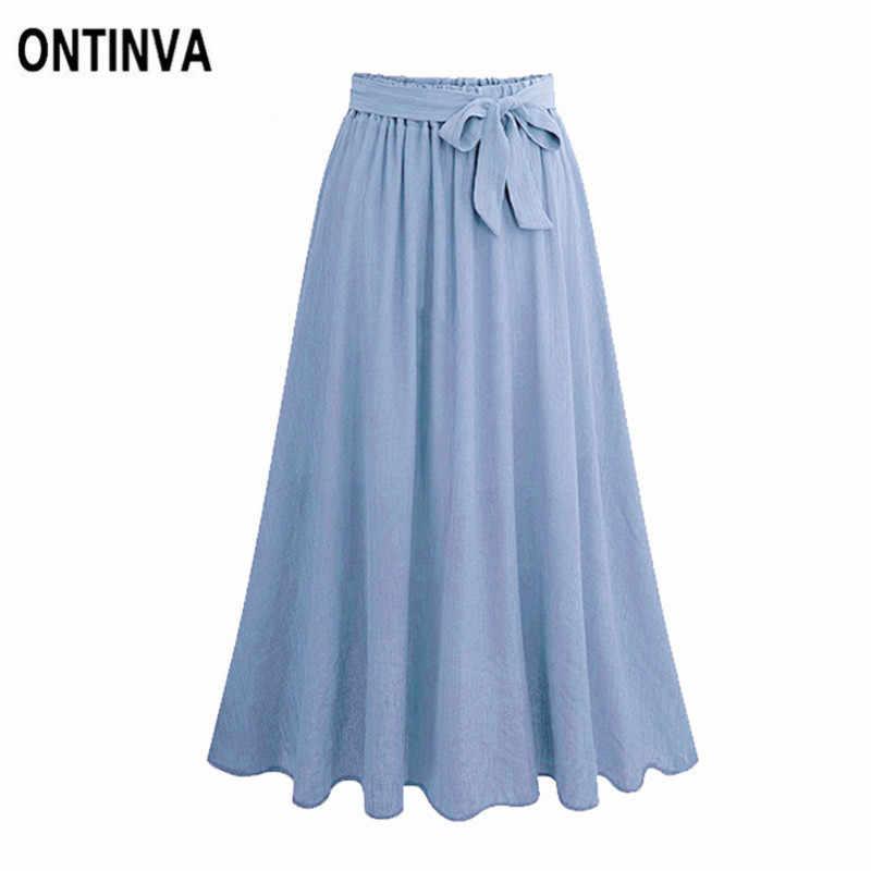 4c7f128dc5 ... Summer Plus Size Chiffon Pleated Midi Skirts Ladies Elegant Lace up High  Waist Skirts Faldas Korean ...