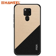 HAWEEL Phone Case for Huawei Mate 20 X Shockproof TPU + PC Cloth Pasted Protective Cover Shell