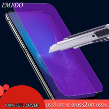IMIDO Full Cover Anti Blue Screen Protector for VIVO V5 Plus V5S Anti-Blue Tempered Glass V7 V9 V11 V15 Pro Youth