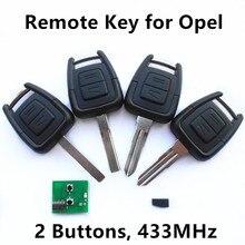 Автомобиль Дистанционного Ключа для VAUXHALL OPEL Omega Vectra Astra Zafira Холден Keyless Entry Fob 2 Кнопки 433 МГц ID40 Chhip
