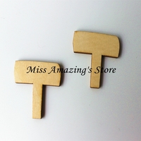 (10pcs/lot) Wooden Miniature Fairy Garden Signs Fab for Fairy Doors Blank Craft Embellishment Unfinished Cutouts Plaque Wood