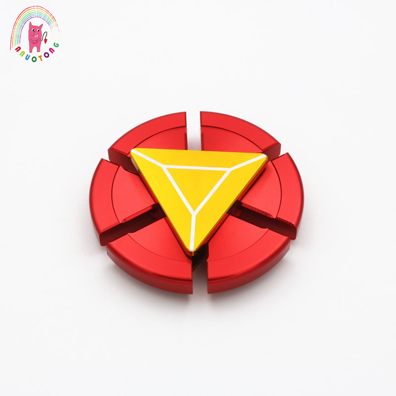 Hand Spinner Iron Man Fidgets Toys Metal EDC Sensory Tri-Spinner Funny For Autism And Fidget Spinner ADHD Anti Stress