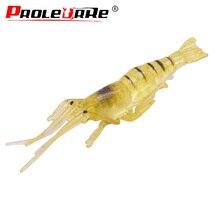 5Pcs/lot Soft Shrimp Fishing Lures 45mm 1g Artificial Shrimp Baits Silicon Shrimp Wobbler Jig Swivel Bass Lure Fishing tackle