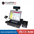 Whole Set Supermarket Equiptment 15 inch All in One Touch POS System Flat panel Touch POS Terminal Cash Register Machine POS2116