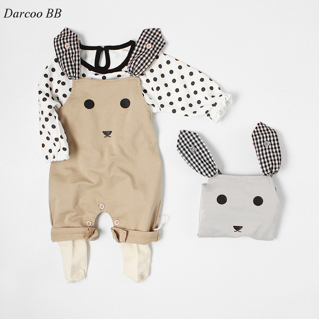 6b996165b168 2018 0-2 Years Baby Boys Girls Rompers Jumpsuit Baby Newborn Cute Rabbit  Style Clothing Ropa Bebes Baby Boy Clothes