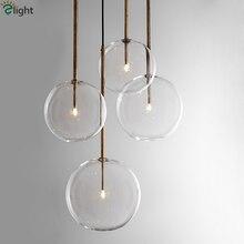 1 светлый прозрачный стеклянный глобус с регулируемой яркостью G4 Led подвесные светильники для столовой Led подвесной светильник золотой/Хромированный светодиодный подвесной светильник Led DropLight