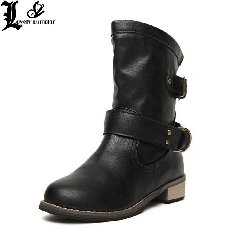 Women winter boots Motorcycle superstar buckle boots women shoes 2018 fashion classic pu leather winter women boots ladies shoesWomen winter boots Motorcycle superstar buckle boots women shoes 2018 fashion classic pu leather winter women boots ladies shoes
