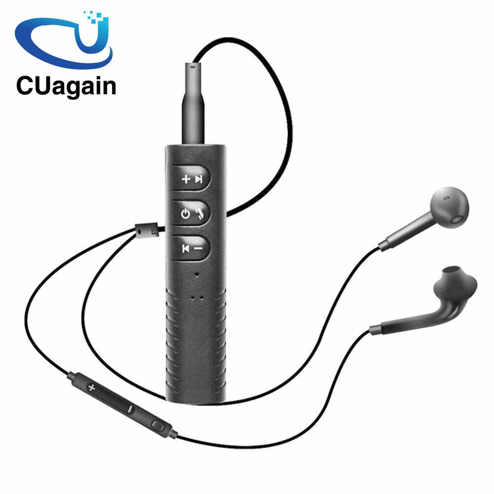 CUagain Wireless Headphone Receiver Bluetooth Earphone Wireless Bluetooth 3.5mm Wired Earphone Bluetooth Earphone Mic For Phone