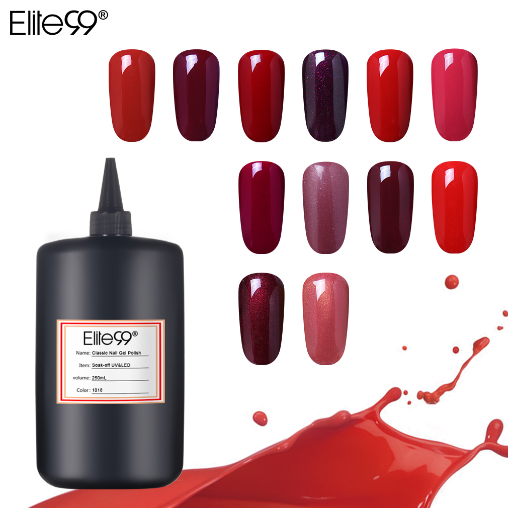 Elite99 vernis à ongles 250ML vernis à ongles pur vernis UV et LED vernis coloré vernis Semi-Permanent hybride
