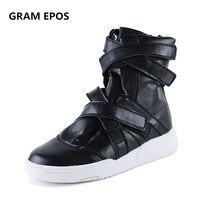 GRAM EPOS Male Autumn Winter Hip Hop Boots Men PU Super Cool Platform High Increased Men
