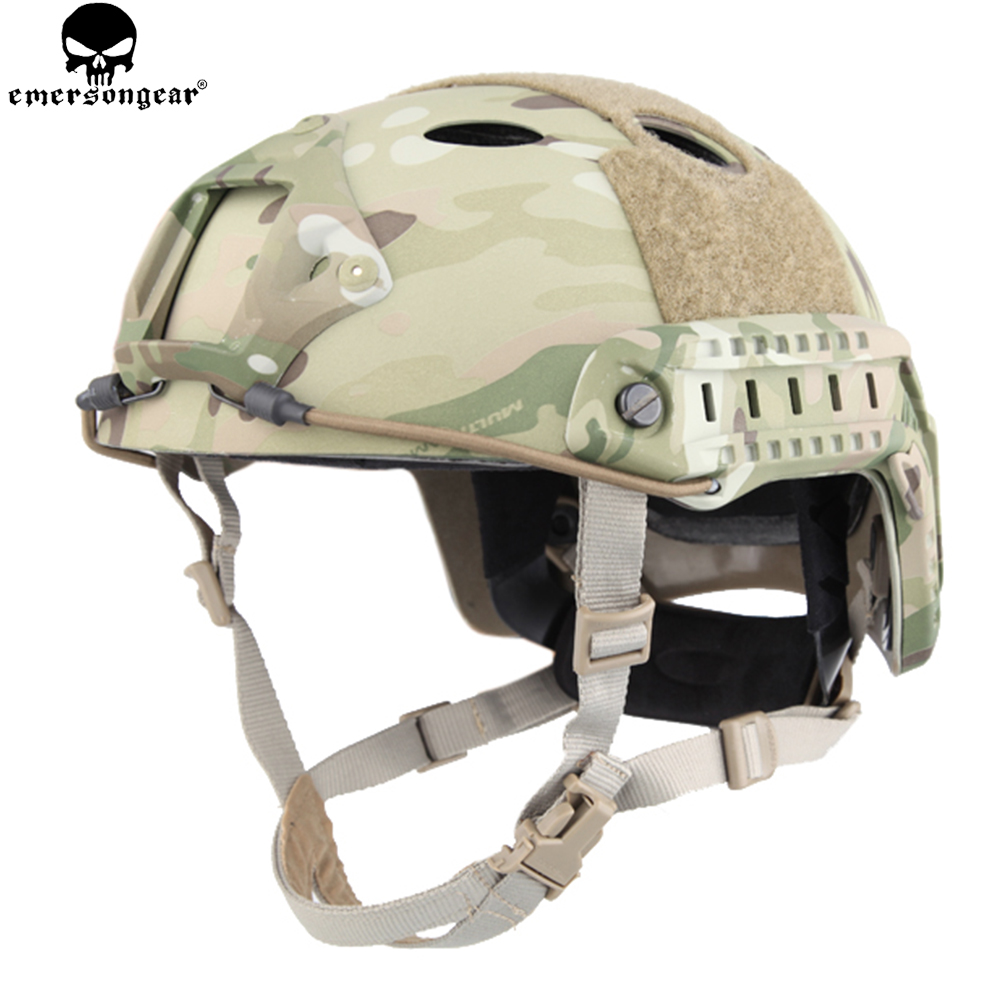 EMERSONGEAR Fast Helmet PJ type Tactical Adjustable Protective Helmet For Combat Airsoft Paintball Hiking Cycling EM5668 tactical fast helmet pj type sports protective helmet black de fg cycling helmet abs material m l