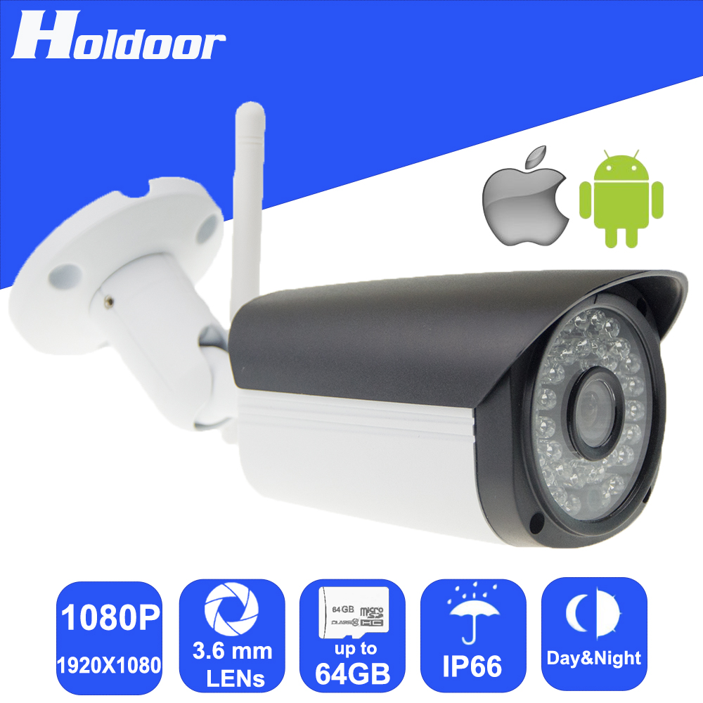 Security Camera with 2.0Megapixel CMOS 3.6mm HD Lens Resolution Onvif Waterproof outdoor IR CUT day and night mode auto switch hd 720p p2p outdoor waterproof bullet ip camera 36led onvif 3 6mm lens 1 4 cmos sensor ir cut day night cctv security camera