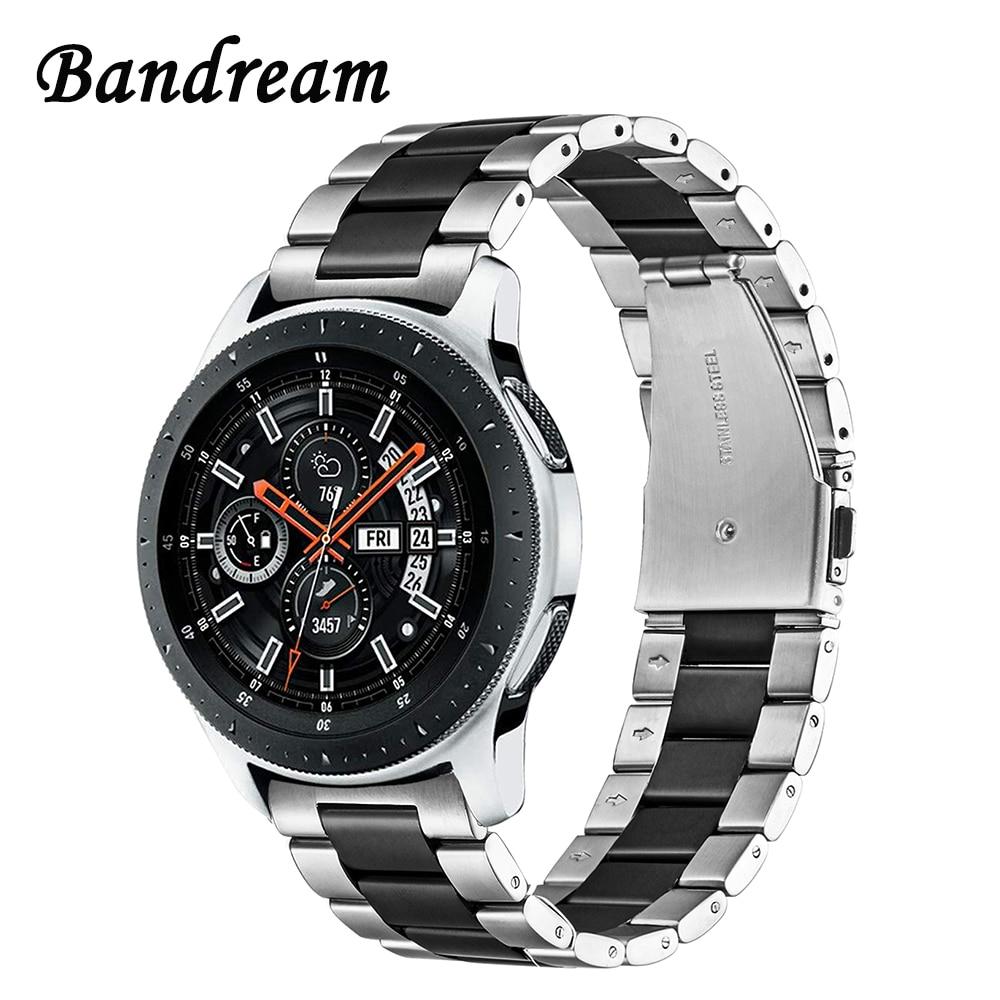 Bandream Edelstahl Armband + Link Entferner für Samsung Galaxy Uhr 46mm SM-R800 Quick Release Band Strap Handgelenk Armband