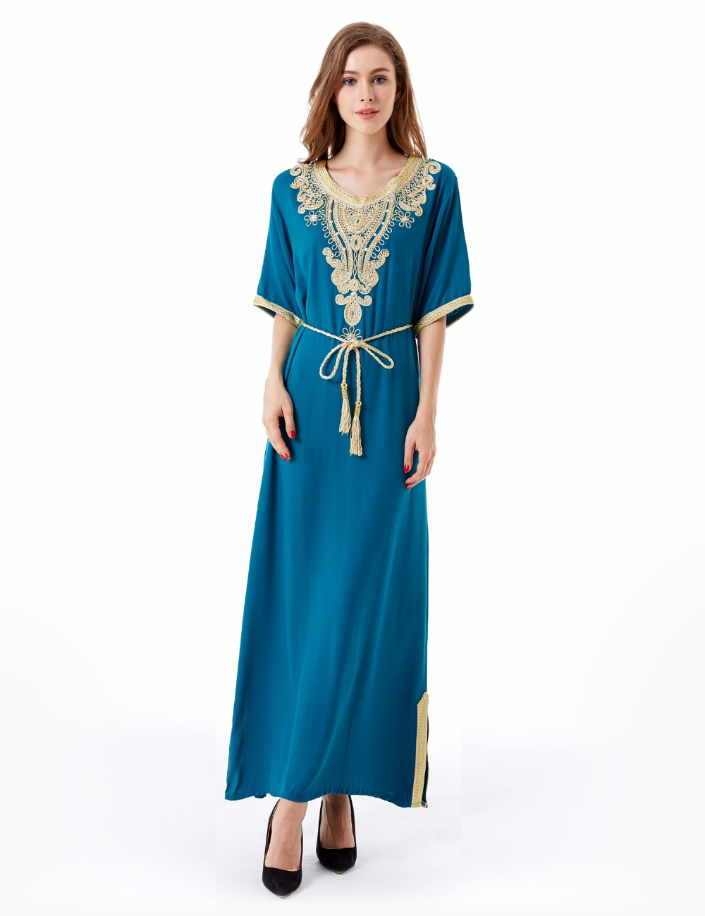 Muslim women Long sleeve Dubai Dress