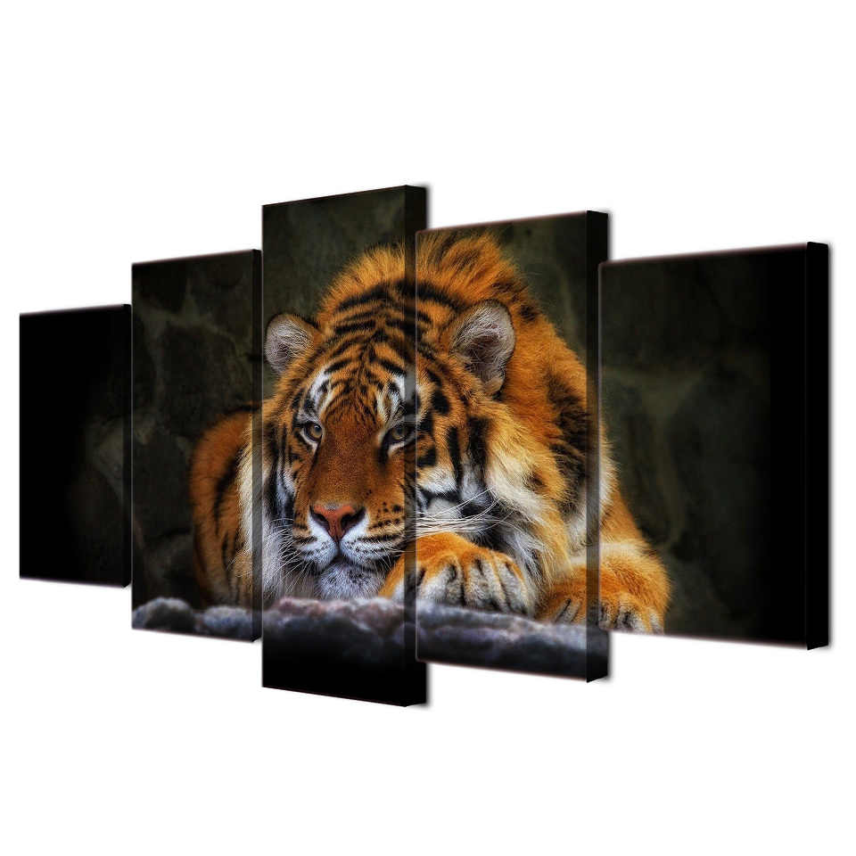 5pieces / set of Animal Series Poster wall art for wall decorating home Decorative painting on canvas framed/FREE ART-Five-33
