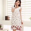 50Pcs/lot Summer new modal sleeping clothes summer short-sleeved dress home the same paragraph princess dress free shipping