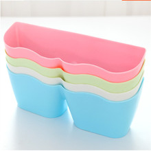 Creative Plastic Sucker Adhesive Shoe Rack Organizer Wall Rack Wall-Mounted For Livingroom Bedroom Bathroom Accessories