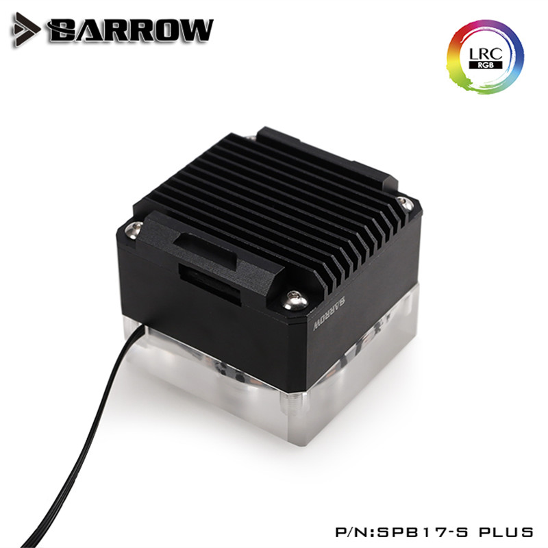Barrow Aurora PWM Control Speed 17W Pump with Acrylic Cover and Metal housing kit Black