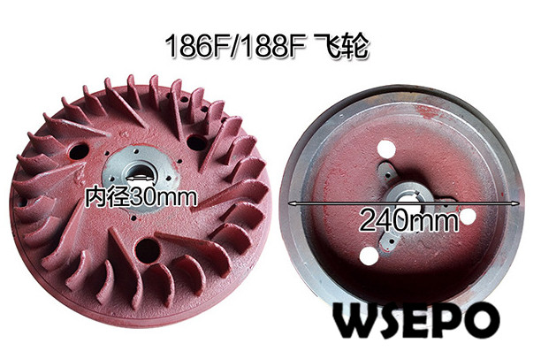 Top Quality! Flywheel for 186F/188F 9HP~10HP Air Cooled 04 stroke Diesel Engine,5KW~6KW Diesel Generator Parts fast shipping 6 5kw 220v 50hz single phase rotor stator gasoline generator diesel generator suit for any chinese brand