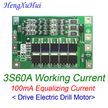 12.6V 3S60A BMS 18650 Li-ion Battery Charger Protection Board With Equalizing Charging BMS Drive Drill Motor 10pcs/lot