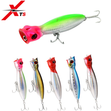 XTS Fishing Lure 80mm 100mm 130mm Wobblers Artificial Hard Popper Bait Topwater Floating For Seabass Pike Crankbait 5285
