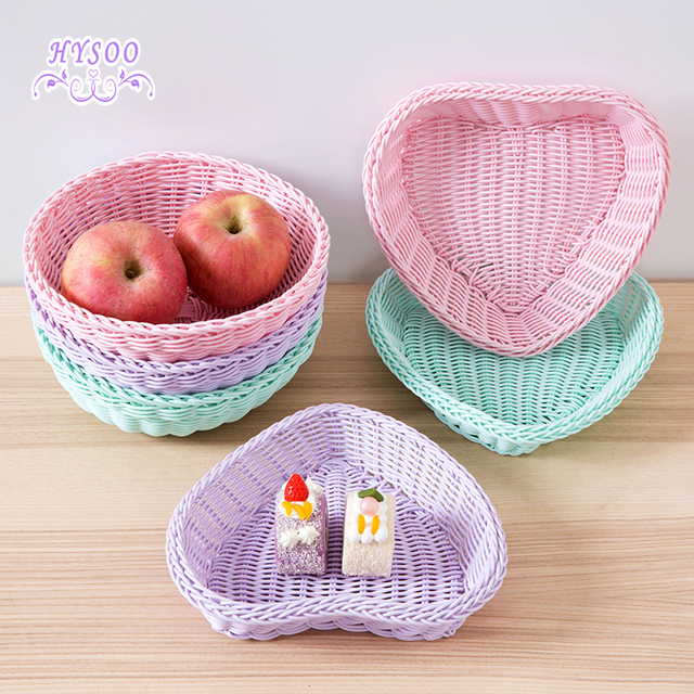 Imitation Cocktail Decorative Storage Basket Plastic Holder Storage Basket  Desktop Snack Fruit Cosmetics Small Basket