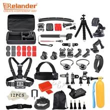 Crelander Tripod Head Chest Strap Mount Camera Accessories Kit for GoPro 6 5 4 3 Yi 4K EKEN H9 H9R Action Camera Accessories Set