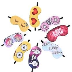1 stücke Cartoon 3D Druck Schlafen Augen Maske Schöne emoji Nickerchen Eye Care Schatten Augenbinde Schlaf Maske Augen Abdeckung Schlaf werkzeuge