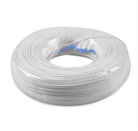 50M Outdoor white SC G657A Fiber FTTH Drop Patch Cable SC SM MM Fiber optic patch cord 1core 3 wire butterfly type optic Cord