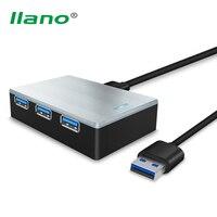 Llano High Speed 4 Ports USB 3 0 HUB Splitter With LED Light For Win XP