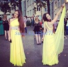 Chic Schulter Abendkleider Graceful Lang Elegante Eine Linie Abendkleid robe de soiree vestido de festa Graceful Prom kleid