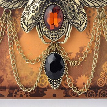 Insect Beetle Steampunk Necklace2