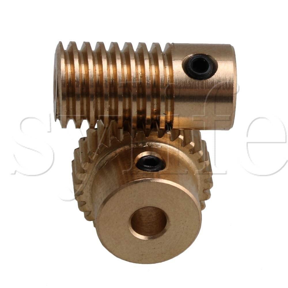 0.5 Modulus Brass Metal 3mm Hole Gear Shaft and 30 Teeth Worm Wheel Worm Gear Set 0.5 Modulus Brass Metal 3mm Hole Gear Shaft and 30 Teeth Worm Wheel Worm Gear Set