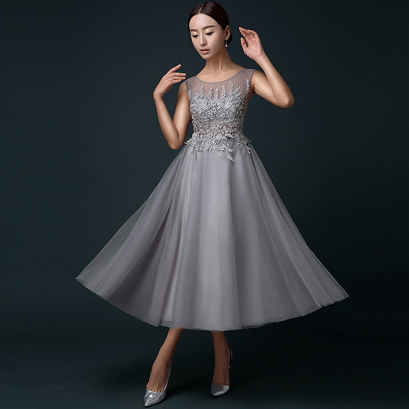 Popular Tea Length Prom Dress-Buy Cheap Tea Length Prom Dress lots ...