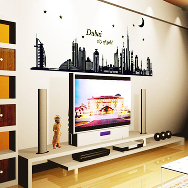 Luminous Sitting Room and bedroom  Wall Stickers with Dubai Design
