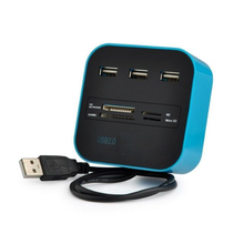 3 High Speed Port USB HUB 2.0 USB Splitter Adapter for Notebook/Tablet Computer PC Peripherals Accessories Blue