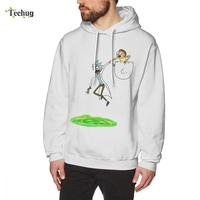 Rick And Morty Long Sleeve For Male Graphic Print Homme Tee Shirt Pure Cotton