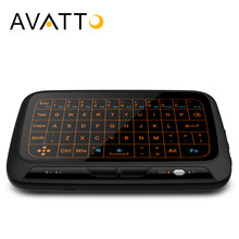 Avatto H18 + Besar Penuh Touchpad Backlit Mini Keyboard dengan Touch Pad 2.4 GHZ Wireless Gaming Mouse Udara untuk smart TV android, Pc(China)