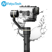 цена на FeiyuTech G5GS 3-Axis Splash-proof Gimbal Handheld Stabilizer for Sony Action Camera AS50 AS50R Sony X3000 X3000R 130g-200g